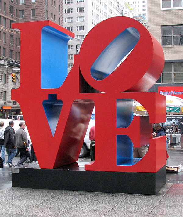 Skulptur Love von Robert Indiana